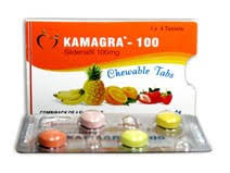 KAMAGRA 100MG CHEWABLE TABLETS MIX FRUITS FLAVOUR SILDENAFIL CITRATE CHEWABLE TABLETS - AJANTA PHARMA www.omsdelhi.com